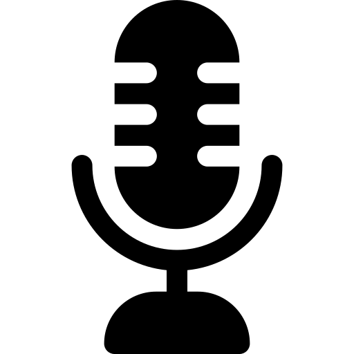 This image has an empty alt attribute; its file name is microphone.png