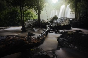 Long Exposure of Phnom Kulen Waterfall