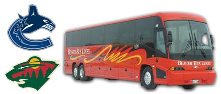 Vancouver Canucks - Minnesota Wild - Bus Trip