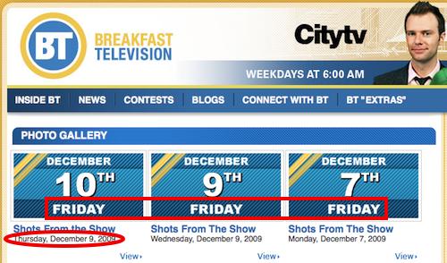 Citytv Friday Dates