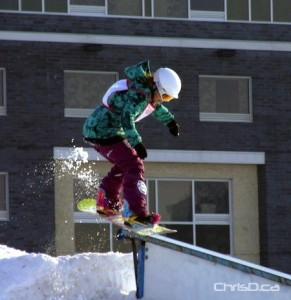 A snowboarder competes in Snow Jam in this file photo. (MARC EVANS / CHRISD.CA)