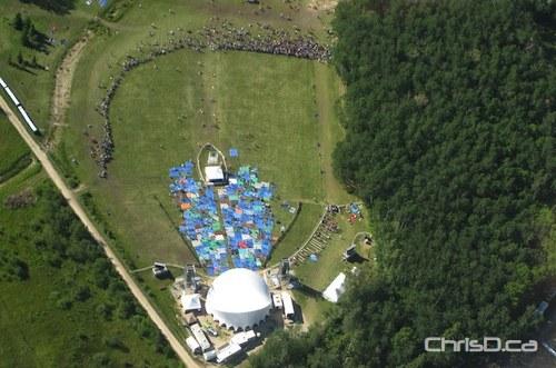 Winnipeg Folk Festival Aerial View