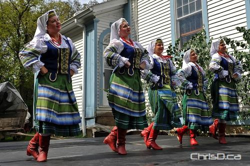 A group of Ukrainian dancers perform during the 38th Annual Cooks Creek Heritage Day celebration on Sunday, August 29, 2010 in Dugald, Manitoba. (TED GRANT / CHRISD.CA)