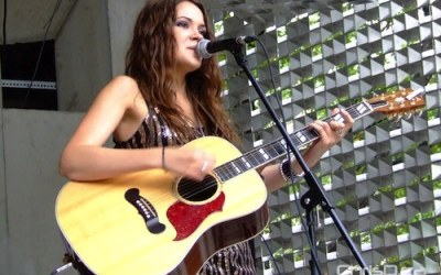 Songstress Sierra Noble Performs in Old Market Square