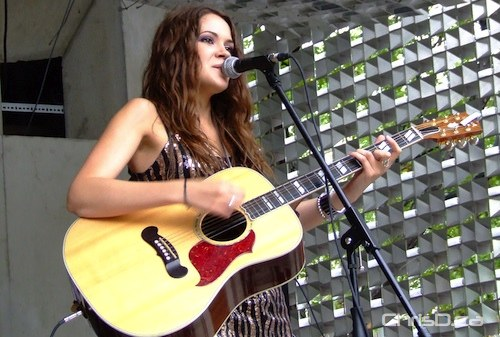 Songstress Sierra Noble performs in Old Market Square during Folklorama's lunchtime concert series on August 5, 2010. (MARC EVANS / CHRISD.CA)