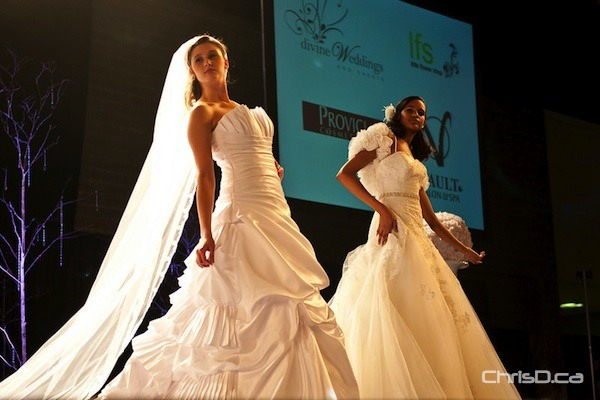Thousands of people attended the Wonderful Wedding Show over the weekend at the Winnipeg Convention Centre. Besides the many displays, models from Panache showed off the latest styles in designer wedding gowns during multiple fashion shows. (TED GRANT / CHRISD.CA)