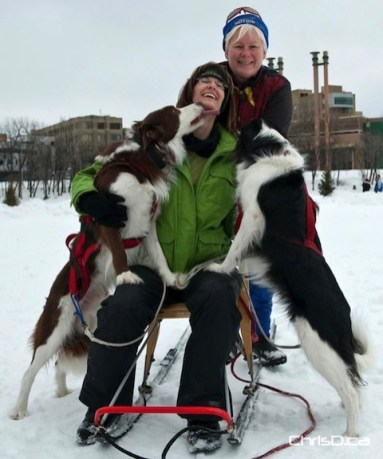 Susie and Karen from the Snow Motion Winter Dog Sports Club of Manitoba (TED GRANT / CHRISD.CA)