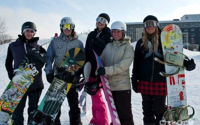 Snowboarders Shred During 'Snow Jam' at The Forks