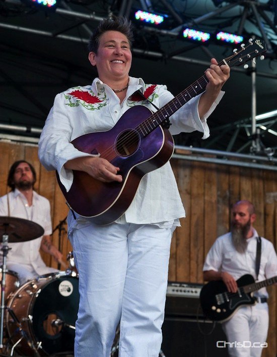 k.d. lang performs at the Winnipeg Folk Festival on Friday, July 8, 2011. (TED GRANT / CHRISD.CA FILE)