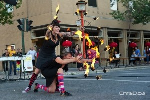 WildFire dancers perform Saturday during the Chinatown Festival in downtown Winnipeg. (TED GRANT / CHRISD.CA)