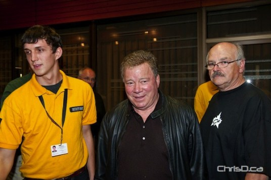 Actor and comedian William Shatner arrives at Central Canada Comic Con in Winnipeg on Sunday, October 30, 2011. (TED GRANT / CHRISD.CA)