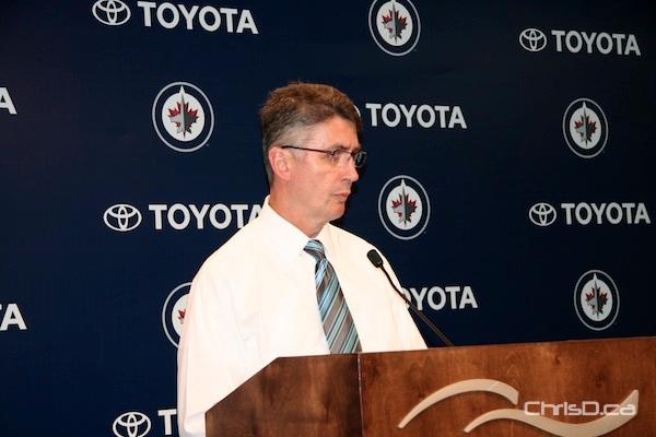 Winnipeg Jets head coach Claude Noel
