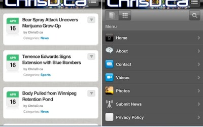 ChrisD.ca Launches New Mobile Website
