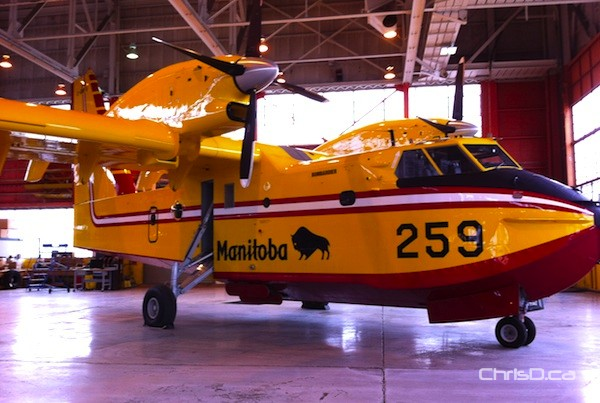 Bombardier CL-415 turboprop water bomber