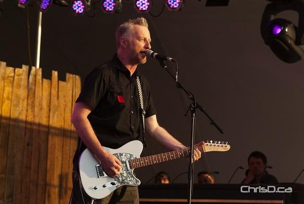 British singer-songwriter Billy Bragg performs at the Winnipeg Folk Festival on Thursday, July 5, 2012. (TED GRANT / CHRISD.CA)