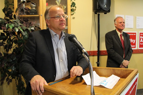 Liberal candidate Bob Axworthy came in second on Tuesday night. (SHANE GIBSON / METRO WINNIPEG)