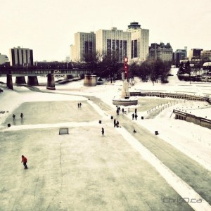 Skaters enjoy the Assiniboine River Trail at The Forks on Friday, December 28, 2012. (CHRISD.CA)