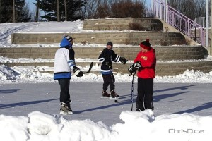Hockey at The Forks
