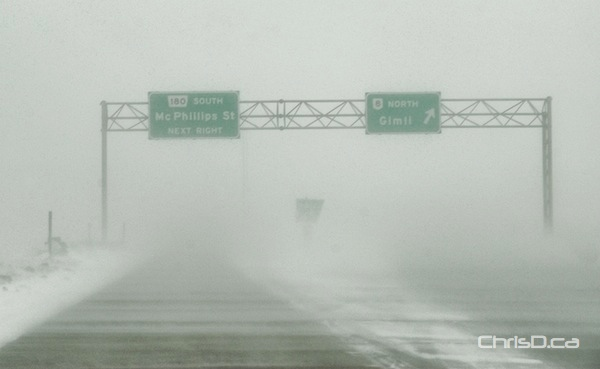 North Perimeter Highway - Blowing Snow