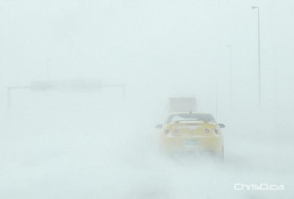 North Perimeter Highway Snow
