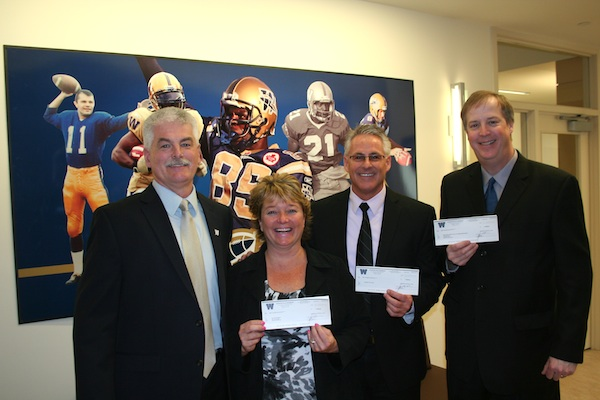 Winnipeg Blue Bombers Charity Donations