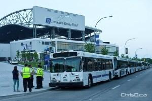 Investors Group Field - Buses
