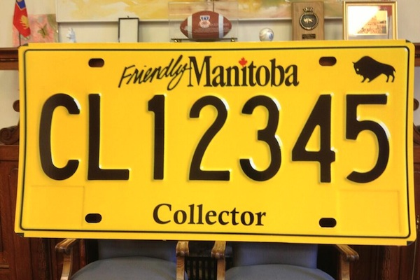 Manitoba Collector Licence Plate