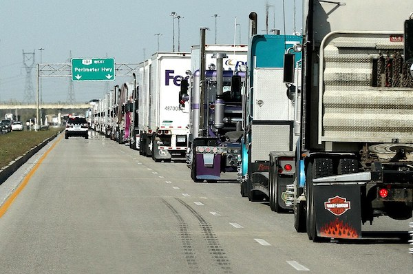 World's Largest Truck Convoy