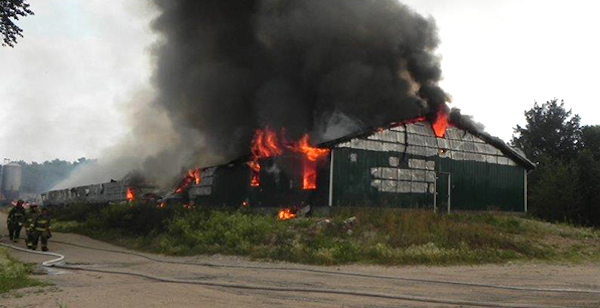Pig Barn Fire