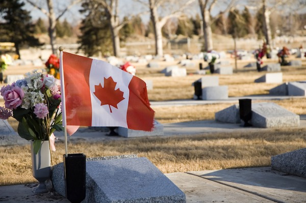 Canadian War Veteran's Grave