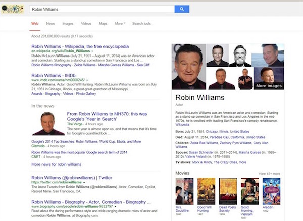 Robin Williams Google