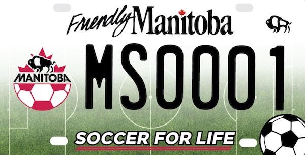 Manitoba Soccer Licence Plate