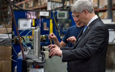 Harper Urges Canada to Stay the Course, While Trudeau Urges Opposite