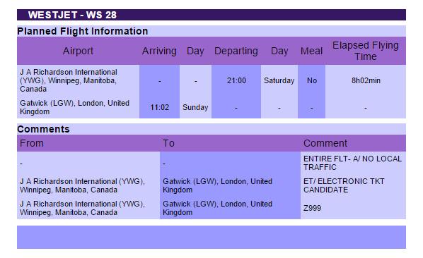 WestJet London Gatwick