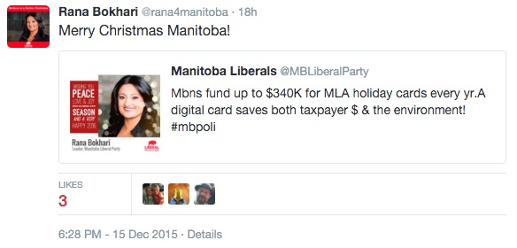 Rana Bokhari Christmas Tweet
