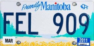 Manitoba Licence Plate
