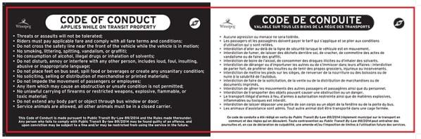 Winnipeg Transit Code of Conduct