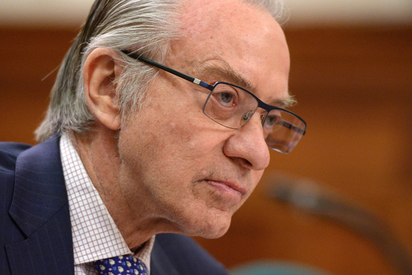 Postmedia president and CEO, Paul Godfrey, appears at commons heritage committee on Parliament Hill in Ottawa on Thursday, May 12, 2016., to discuss the media and local communities. (THE CANADIAN PRESS/Sean Kilpatrick)