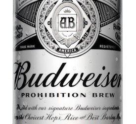 Budweiser Goes Alcohol-Free with New Prohibition Brew