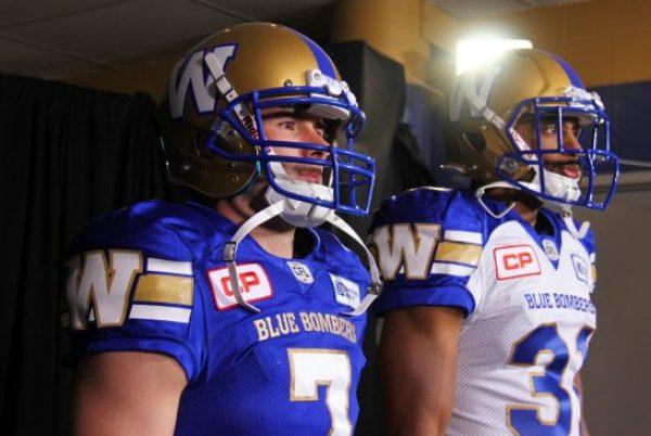 The new Winnipeg Blue Bomber jerseys. (METRO WINNIPEG/Braeden Jones)
