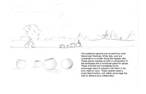 Scattered Spheres Bench