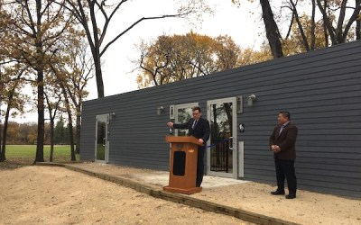 Shipping Container-Turned Washroom Opens at St. Vital Park