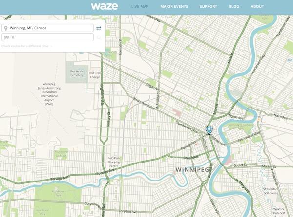 Waze Traffic - Winnipeg