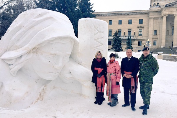 Battle of Vimy Ridge Snow Sculpture