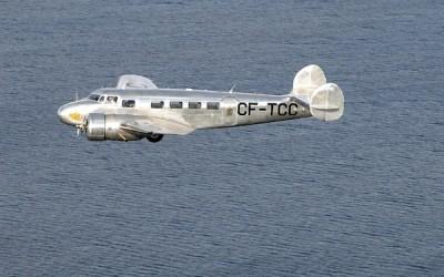 Vintage Lockheed Aircraft Touching Down in Winnipeg