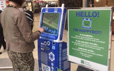 Kildonan Place Wins Marketing Award for 'Happybot' Kiosk