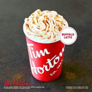 Tim Hortons Buffalo Sauce Latte