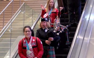 Manitoba Olympians Kaitlyn Lawes and Brigette Lacquette Return Home to Hero's Welcome