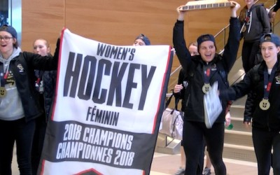 Bisons Hockey Team Celebrated On Campus with Pancake Breakfast