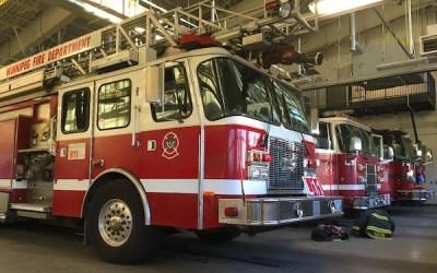 Winnipeg Fire Paramedics Respond to Fire on Ross Avenue